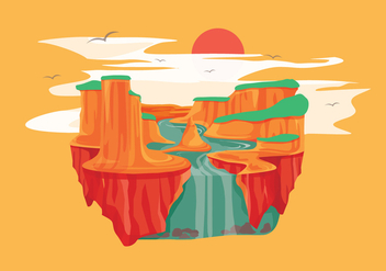 Grand Canyon Vector - Free vector #303865