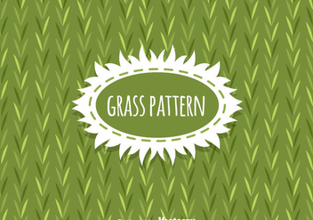 Grass Pattern Background Vector - Kostenloses vector #303895
