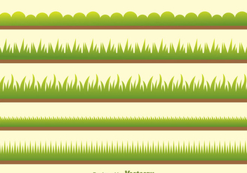 Vector Green Grass On Field - vector gratuit #303915