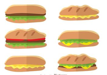 Panini Sandwich Vectors - Kostenloses vector #304175