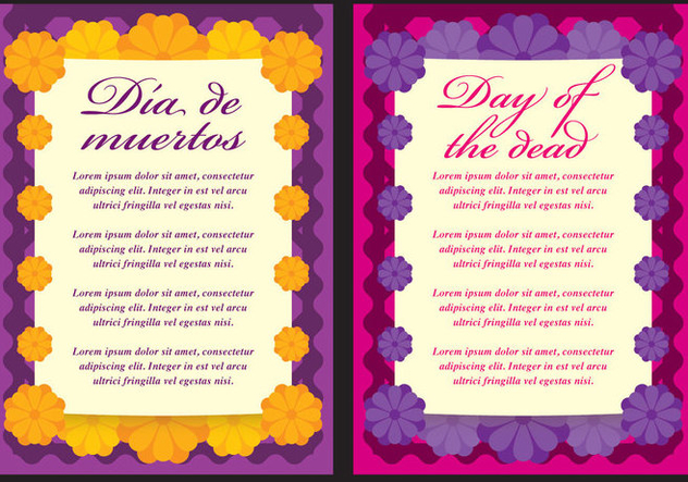 Day Of The Dead Cards - vector #304195 gratis