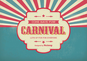 Vintage Carnival Illustration - vector gratuit #304205