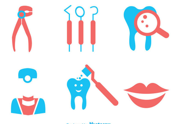 Teeth Care Duo Tones Colors Icons - Kostenloses vector #304955