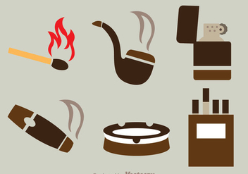 Smoke Flat Icons - vector gratuit(e) #305005