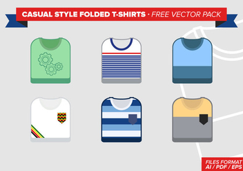 Casual Style Folded Tshirts Free Vector Pack - Free vector #305035