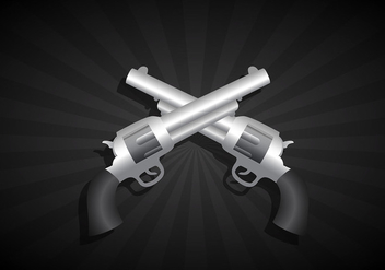 Two crossed guns - Free vector #305175