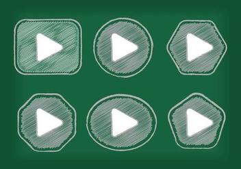 Play Button Icon Vectors - Free vector #305195