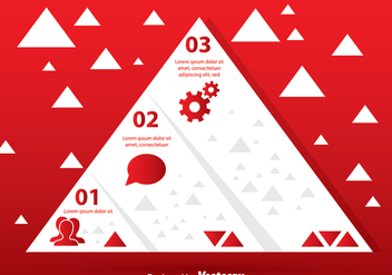 White Pyramid Chart - Kostenloses vector #305205