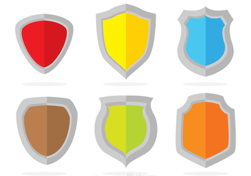 Colors Shield Vectors - Free vector #305235