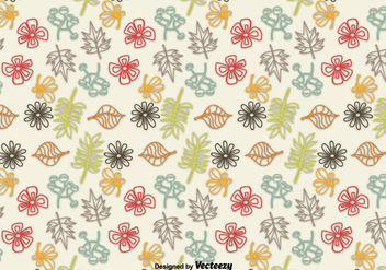 Hand drawn leaves background - Free vector #305505