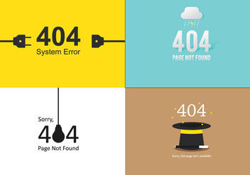 404 Template Set - Free vector #305555