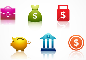 Bank Icon Vector - Free vector #305595