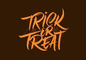 Trick Or Treat Vector Lettering - vector gratuit #305785