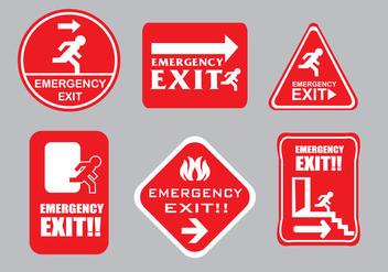 Emergency Escape Sign Vectors - Free vector #305805