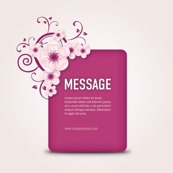Purple Message Box Floral Swirls - vector gratuit #305915