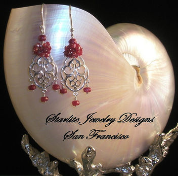 Starlite Jewelry Designs ~ Ruby Earrings ~ Handmade Fashion Jewelry Design - image gratuit(e) #314115