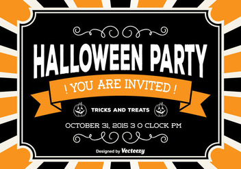 Halloween Party Card - vector gratuit #317455