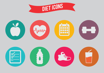Diet Vector Icons - бесплатный vector #317595