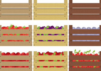 Berries Crates - vector gratuit #317605