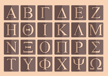 Greek Alphabet Vector Pack - Free vector #317615