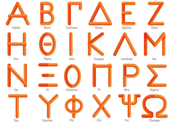 Modern Greek Alphabet Vector - Free vector #317685