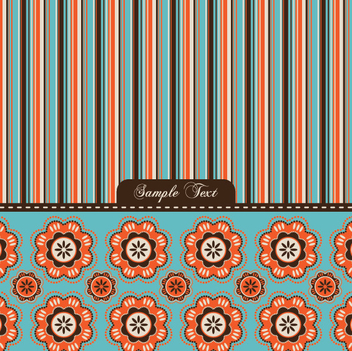 Colorful Stripe Flower Fabric Pattern - Kostenloses vector #317715