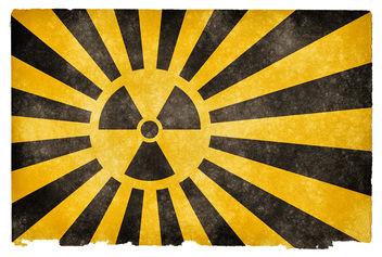 Nuclear Burst Grunge Flag - Kostenloses image #323415