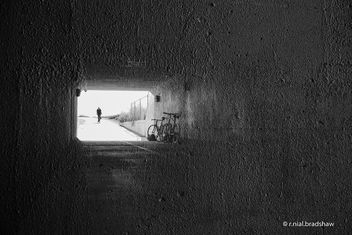 bicycle-tunnel-double-exposure.jpg - Free image #323845