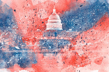 Acrylic DC Capitol - Red White & Blue - бесплатный image #324485