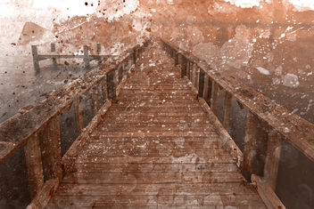 Acrylic Sepia Pier - Free image #324765