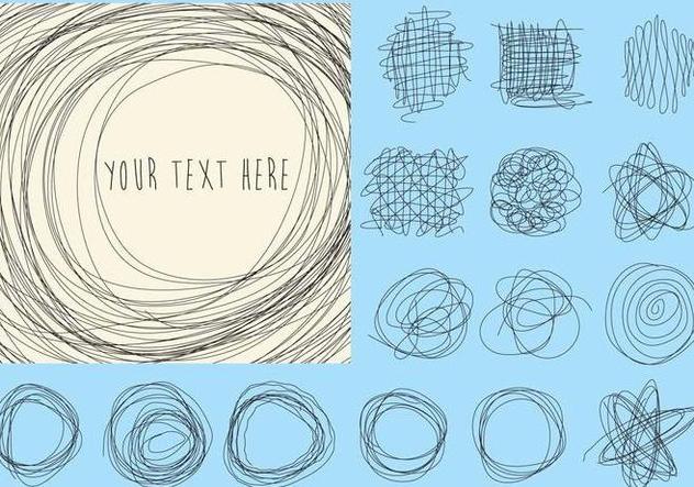 Doodles Vector Lines - vector #326645 gratis