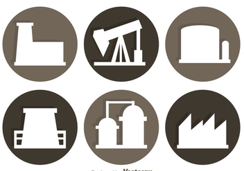 Factory Circle Icons - vector #326705 gratis