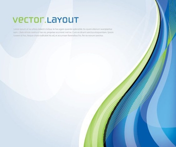 Blue Green Waves Business Background - vector gratuit(e) #326835