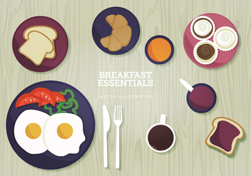 Breakfast Vector Illustration - Free vector #327035