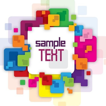 Colorful Squared Message Banner - vector #327215 gratis