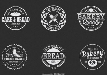 Free Vintage Bakery Vector Label Set - Free vector #327425