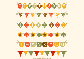 Free Thanksgiving Garland Vector Set - Kostenloses vector #327435