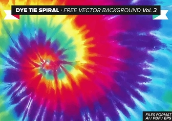 Dye Tie Spiral Free Vector Background Vol. 3 - Free vector #327505