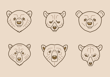 Bear icons - vector gratuit #327525