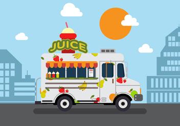 Vector Juice Truck - Free vector #327625