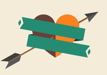 Vector Arrow Through Heart - Free vector #327655