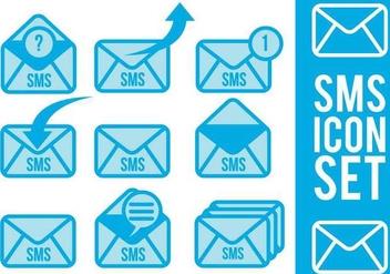 Sms Icon Vectors - vector gratuit #327695