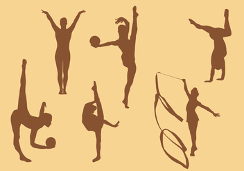 Gymnastic silhouette vectors - Kostenloses vector #327915