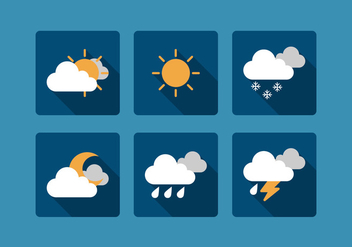 Vector Weather Icon Set - Free vector #327945