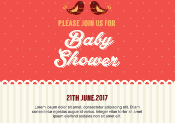 Baby Shower Invitation Vector - Free vector #327965