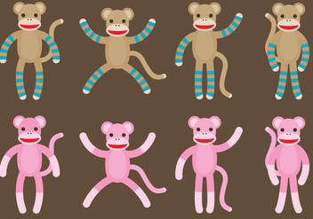 Sock Monkeys - vector gratuit #327995
