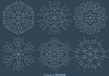 Blue snowflakes - Free vector #328245