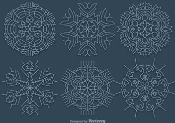 Blue snowflakes - vector gratuit(e) #328245