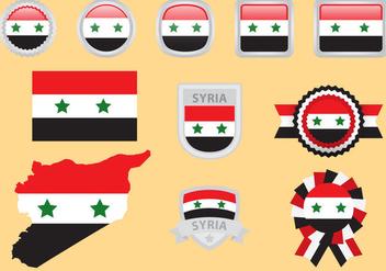 Syria Flag Vectors - Kostenloses vector #328295