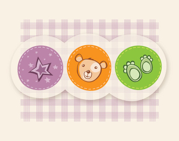 Cute Funky Childish Card - vector #328385 gratis